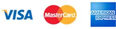 Við tökum við Visa, Mastercard, American Express og PayPal.